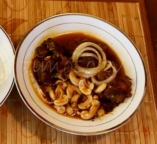 Plate of Turkey in Cashew Sauce