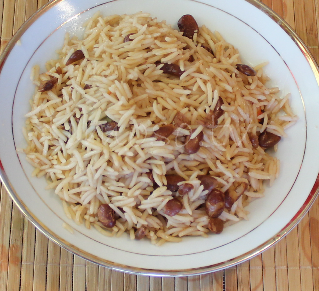 Plate of Haitian Rice and Beans
