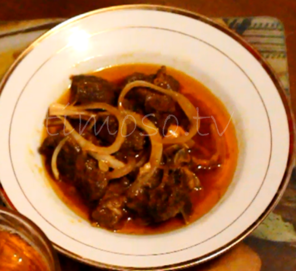 Plate of Haitian Style Goat Meat
